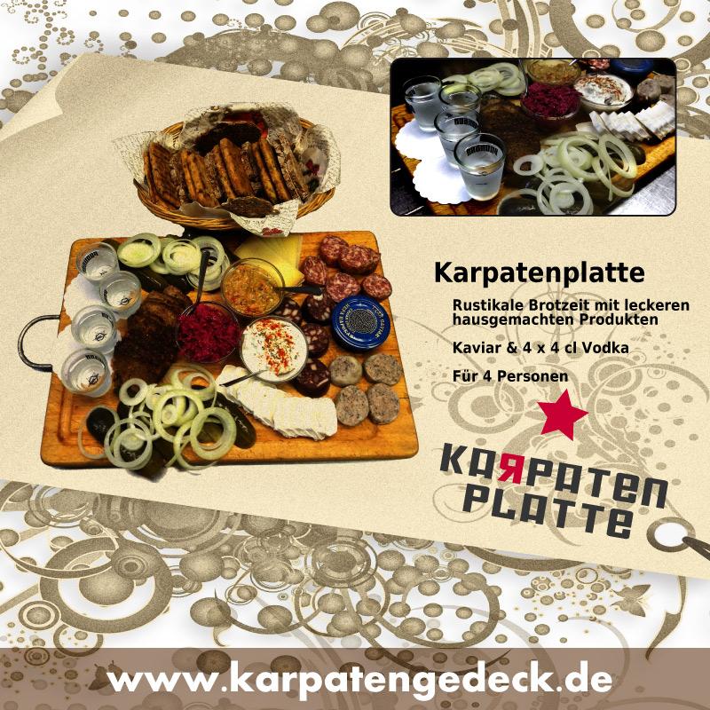 Karpatenvesper, Karpatenplatte, Brotzeit, Elsteraue, Vodka, russische Küche
