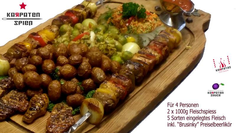 Karpatenspieß, Slivovice Sauce, Elsteraue, Zeitz, Pegau, Groitzsch