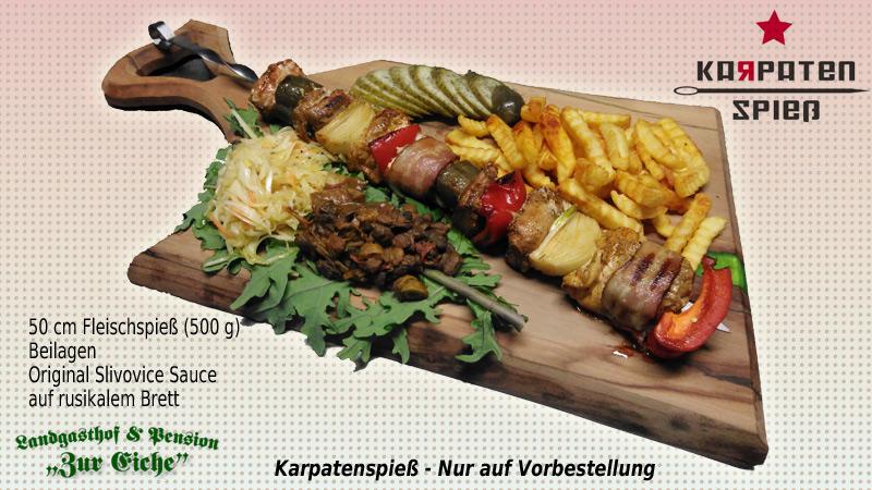 Karpatenspieß, Schaschlik, Fleischspieß, Elsteraue, slawisch, Profen, Restaurant