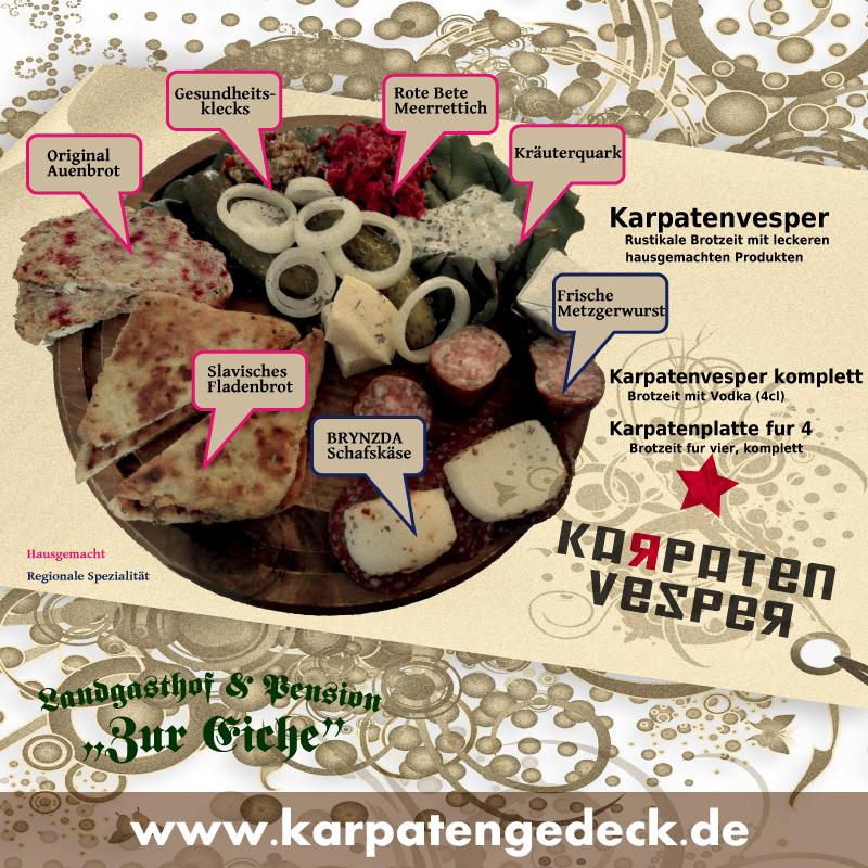Karpatenvesper, Brotzeit, Elsteraue, russische, Küche, Vodka, hausgemacht